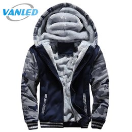 Wholesale Yellow Color Wool Winter Coat - 5XL Men'S Hoodies And Sweatshirts Outwear Hip Hop Fleece 3d Jacket Tracksuits Thick Wool Warm Winter Camouflage Slim Coats 2017