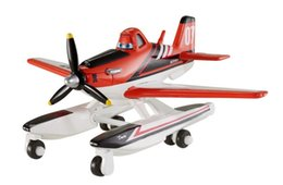 Wholesale Planes Pixar Dusty - Pixar Planes 2 Fire & Rescue Firefighter Dusty Metal Diecast Toy Plane 1:55 Loose New In Stock & Free Shipping
