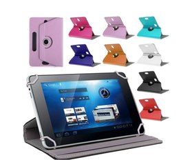Wholesale Wholesale Laptop Cover - MID Laptop PU Leather Universal Case for 7 8 9 10 inch Tablet PC iPad 5 360 Degree Rotate Stand Cover Fold Flip Covers Built-in Card Buckle