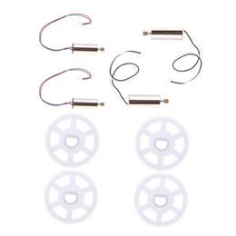 Wholesale Gear Motor Wheel - 4pcs Original WLtoys V686G Part CCW and CW Motor with 4pcs Gear Wheel Set for JJRC WLtoys V686G RC FPV Quadcopter order<$18no track