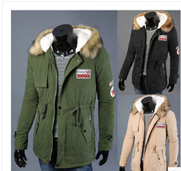 Wholesale Womens Fur Collar Coat - Fashion Womens Mens Warm Fur Collar Hooded Parka Casual Winter Thicken Down Coat Couple Overcoat Outwear Down Jacket With Badge