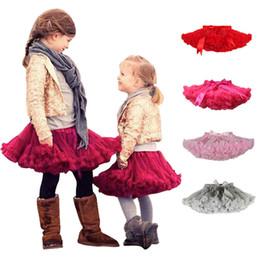 Wholesale Girls Plain Skirts - Puffy Cute Little Girls Tutu Tulle Skirt Petticoat Baby Short Skirts Dance Party Piston Skirt Children Princess Soft Underskirt