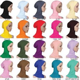 Wholesale New Style Hijab Scarf - New Style Modal double Crossover Muslim Hijab Islamic Inner Caps Under scarf Sport Hats