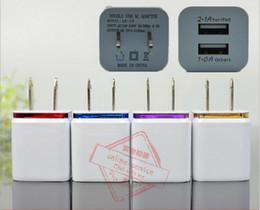 Wholesale Eu Usb Wall Home - Metal Home Charger US EU Plug Dual USB 2.1A AC Power Adapter Wall Charger Plug 2 Ports For Samsung Galaxy S6 LG Tablet iPad iPhone 6s 7