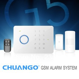 Wholesale Gsm Home Alarm System G5 - DHL Free Shipping! Chuango G5 Touch Keypad GSM SMS Wireless Home Security Burglar Alarm System RFID Access Control 315MHZ