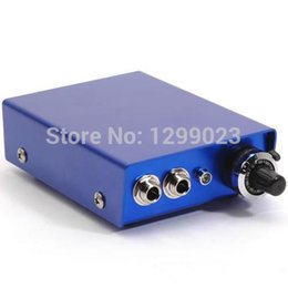 Wholesale Dual Output Tattoo Power Supply - Wholesale-Professional Aluminium alloy Tattoo Power Supply Dual Output Power Supply Blue ,Red ,Brown,Silver for tattoo macine tattoo gun