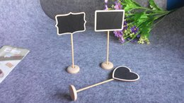 Wholesale Wedding Table Place Cards - Creative Mini Wood Chalkboard Blackboard Wooden Place Card Holder Table Number For Wedding Event Party Decoration Direct Factory Price
