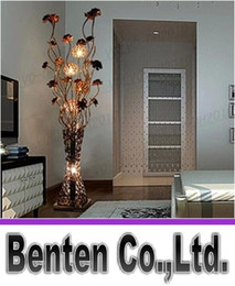 Wholesale G4 Shipping - llfa805 Free Shipping Modern brief fashion floor lamp bedroom lamp fashion vase aluminum wire floor lighting