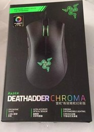 Wholesale Computer Sensors - Razer Deathadder Chroma USB Wired Optical Computer Gaming Mouse 10000dpi Optical Sensor Mouse Razer Mouse Deathadder Gaming Mice