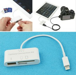 Wholesale Ipad Usb Camera - Wholesale-3 in 1 USB Camera Connection Kit Memory Card Reader Adapter For iPad 4 Mini Air D