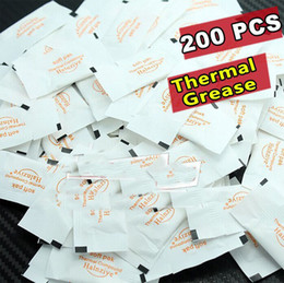 Wholesale Thermal Grease Paste Compound Cpu - Wholesale-FREE SHIPPING White Mini silica gel small bag Silicone Thermal Grease CPU GPU VGA Paste Heat Sink Compound 200pcs lot
