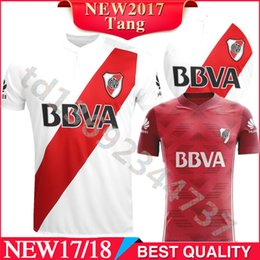 Wholesale Rivers Red - Top Thai quality shirts 2017 18 river plate Home away soccer jersey CRESPO AIMAR DALESSANDRO ORTEGA CAMISA FUTEBOL riverbed football jerseys