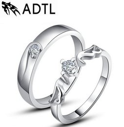 Wholesale Hand Ring Set - Korean couple rings s925 silver wedding ring Angels hand jewelry