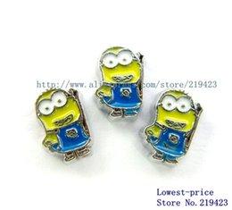 Wholesale Wholesale Minion Charms - Wholesale-10PCS Minions floating locket charm for floating locket FC688