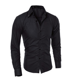 Wholesale Shirt Korea Import - [Trade] special for the exclusive Korea imported fabrics Obscure Lingge men's long-sleeved shirt 5912