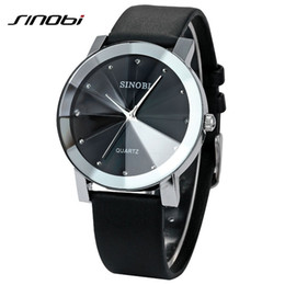 Wholesale Elegant Sinobi Ladies Watch - Wholesale-Brand New luxury SINOBI 981 Casual Diamond Male Elegant female Clock Man woman Lady Wrist Watches dress Wristwatch reloj Gift