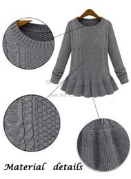 2019 pull en coton à coton pour femme Vente chaude 2014 Automne Hiver Femmes Mode Vintage Jupe Twist Pull O-Cou Femme Pull Pull SV18 19168
