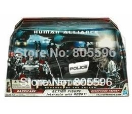 Wholesale Human Alliance - New Robot roadblock police car+man Revenge of the Fallen Human Alliance Action Figures drop shipping
