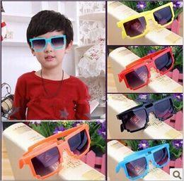 Wholesale Cheap Sunglasses For Kids - Fashion Mosaics Sunglasses For Kids UV Protective Eyewear High Quality Children Beach Travel Sun Glasses Cheap Wholesale