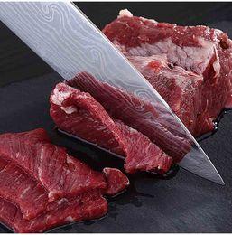 2019 portautensili di utilità Coltello da cucina in manico da 8 pollici Damascus Chefs - Premium Acciaio inossidabile ad alto tenore di carbonio AUS-10