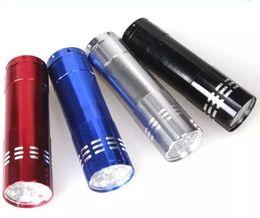 Wholesale Torchlight Wholesales - Portable 9 CREE LED UV Light Flashlight Hiking Torchlight Aluminium Alloy Money Detecting LED UV Lamp Light with Box