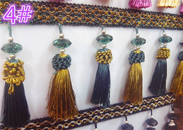Wholesale Lace Hanging Ball Wholesale - Wholesale-Cheap new high-grade large crystal beads accessories accessories lace curtains hanging ball hanging Sui lace