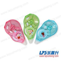Wholesale Lps Cute - Wholesale-FREE SHIPPING!!LPS correction tape 9503 for school,Colorful Correction Tapes,Cute Stationery Retail,12 pcs lot