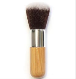 Wholesale Flat Kabuki - Makeup Flat Foundation Brush Top Soft Kabuki round Brush Multifunction Powder Buffing EDM Foundation Brush