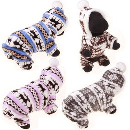 Wholesale Fleece Christmas Jacket - small dog Christmas clothes pet hooded clothes fleece apparel costume cute coat dog Pet winter clothing for dog warm clothing PD035
