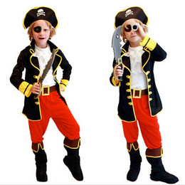 Wholesale Child Pirate Costumes - Best Selling Party Supplies Pirate Capain Jack Cosplay Boy Clothing Halloween Costume For Kids Children Christmas Costume D-1059