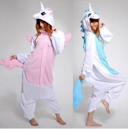 Wholesale unicorn adult onesie - New Arrival Winter Kawaii Anime Hoodie Pajamas Cosplay Adult Onesie Christmas Unicorn Pajama Costume Unicorn Onesie