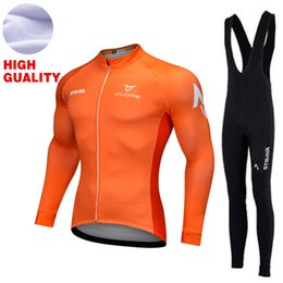 Wholesale Mens Cycling Jersey Long Sleeve - YKYWBIKE 2017 Hot Winter Thermal Fleece Pro Team Cycling Jersey Set Long Sleeve Mens Winter Cycling Clothing Long Sleeve