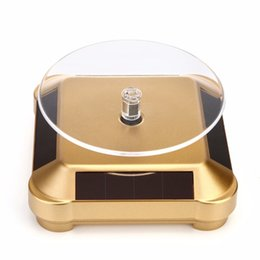 Wholesale Display Turntable Solar - Solar Battery Dual Use Solar Showcase Solar Display stand Solar Turntable Rotary Display Stand for mobile phones mp4 watches jewelry