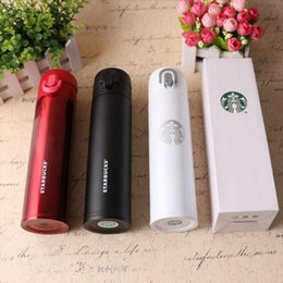 Wholesale Mug Lid Starbucks - 380ml Capacity Black White Red Starbucks Stainless Insulated Coffee Mug Car Cup with Nice packaging box