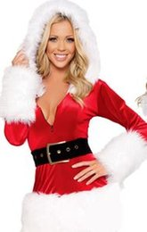 Wholesale Fun Sexy Costumes - Christmas lingerie perspective Christmas Xmas gauze sexy pajamas Christmas fun underwear adult sexy three point conjunctions bows
