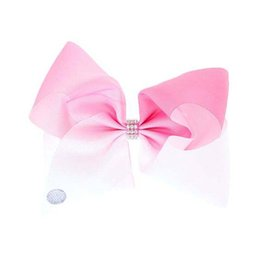 Wholesale Child Abc - Free Shipping 2017 Newests 10pcs 8 ''Large Ombre Signature Fashion Hair Bows Boutique Big Hair Bows Girl Abc Children Hair Clips