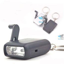 Wholesale Mini Dynamo Flashlight Keychain - Wholesale-ShopHub Affordable! Mini Dynamo Wind-up KeyChain 2-LED Torch Flashlight Content!