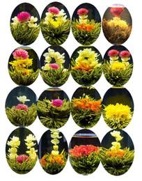 Детские товары онлайн-16 видов ручной цветной цветной чай lChinese Ball Цветущий цветок Травяной чай Искусственный цветок Чай Продукты для здоровья 130g
