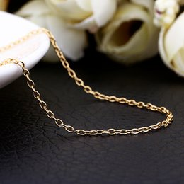 Wholesale Silver Necklace Yellow - fashion necklaces 1.5MM 18k yellow gold necklace O chain necklace pendant necklace free shipping