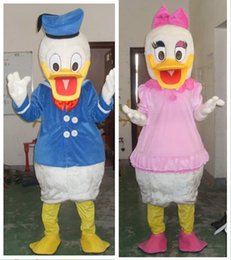 Wholesale Donald Duck Mascot Costumes - ree shipping Brand new MR. Duck Mascot costume Adult Size !Donald Duck mascot costume