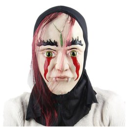 Wholesale Dagger Prop - Fantastic Bloody Fern Dagger Fool Halloween Ball Show Props High quality Soft Fear Ghost Latex Mask