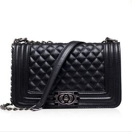 Wholesale Double Pocket Bag - 2017 Famous Designers Women's Quilted Double Flaps Lambskin Handbag PU Leather Shoulder bag messenger Bag Crossbody Bags