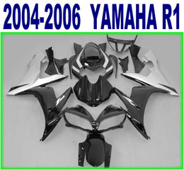 Wholesale Lowering Kit For R1 - 100% Injection molding lowest price fairings set for YAMAHA 2004 2005 2006 YZF R1 silver black fairing kit 04-06 yzf-r1 bodykits RY45