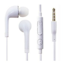 Wholesale China Headphones Free Shipping - 3.5mm In-Ear Stereo Earphone white black Headphones Headset with Mic for Samsung Galaxy S6 S4 Note 3 Free Shipping DHL China Wholesale