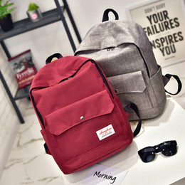 Wholesale Fashionable Backpacks - Wholesale- New backpacks for teenage boys College Student fashionable school bags for teenage girls quality laptop backpack women back bags