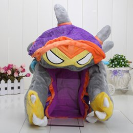 Wholesale Hat Lol - Cool League of Legends LOL Rammus Cosplay HAT PURPLE 100% NEW Dragon Turtle cap Free Shipping