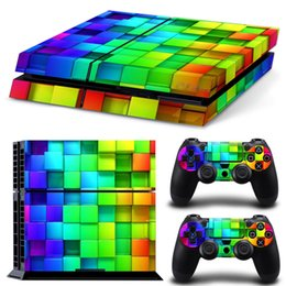 Wholesale full body decals - Colorful Design Vinyl Decal Full Body Cover Skin Sticker for PS4 Console+2 Controllers