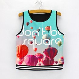 Wholesale Low Price Girl Dresses - Hot sale 3D print women t-shirt sleeveless fashion ladies cropped top tees vogue girls summer dress low price mix order wholesale free ship