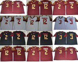 Wholesale Fsu Jersey - Mens NCAA ACC FSU Derwin James College Football Jerseys #2 Deion Sanders 12 Deondre Francois Florida State Seminoles Jersey