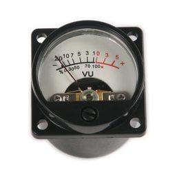 Wholesale Amp Vu - 2pcs Panel VU Meter DC AC 6V 12V Free Shipping Warm Back Light Recording&Audio Level Amp